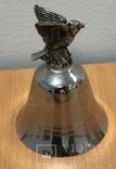 Металлический колокольчик с орлом, фото №5