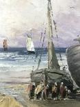 Люди встречают корабли на берегу, фото №4