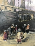 Люди встречают корабли на берегу, фото №5