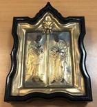 Икона апстолы Петр и Павел. Серебро 84 пробы. (новодел), фото №2