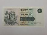 Бона 1 фунт, 1975 г Великобритания (Шотландия), фото №2