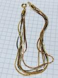 Браслет многорядный золотистых тонов, фото №2