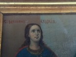 Старинная Икона Глава Иоанна, Евдокия, Иоанн Златоуст, Феодора, фото №3