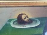 Старинная Икона Глава Иоанна, Евдокия, Иоанн Златоуст, Феодора, фото №5