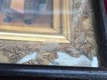 Старинная Икона Глава Иоанна, Евдокия, Иоанн Златоуст, Феодора, фото №9