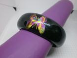 Широкий браслет с бабочками. Ширина 25мм, фото №3