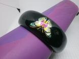 Широкий браслет с бабочками. Ширина 25мм, фото №4
