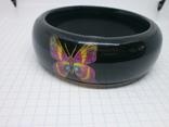 Широкий браслет с бабочками. Ширина 25мм, фото №7