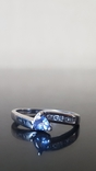 Золотое кольцо  с бриллиантами  и Танзанитом., фото №6