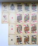 Старые карты для казино в бакелитовом футляре с мастями - 2 колоды., фото №7