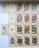 Старые карты для казино в бакелитовом футляре с мастями - 2 колоды., фото №11