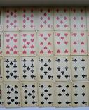 Старые карты для казино в бакелитовом футляре с мастями - 2 колоды., фото №12