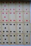 Старые карты для казино в бакелитовом футляре с мастями - 2 колоды., фото №13