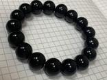 Браслет чёрный не пластик 37 грамм, фото №4