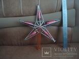"Верхушка на ёлку ""Звезда"",стеклярус, фото №2"