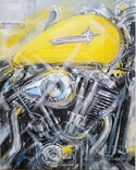 Картина «Harley-Davidson». Художник Ellen ORRO. холст/акрил. 40х50, 2019 г., фото №2