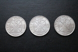 Три серебряные монеты 100 Ptas Песет 1966 год, фото №4
