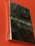 Винтажная коробочка с прозрачными кристаллами и зеркальцем внутри с Англии, фото №5