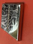 Винтажная коробочка с прозрачными кристаллами и зеркальцем внутри с Англии, фото №6