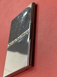 Винтажная коробочка с прозрачными кристаллами и зеркальцем внутри с Англии, фото №7