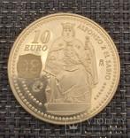 10 евро 2008год, Испания Серебро, фото №2