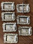 Набор пепельниц серебро 915 Испания, фото №4
