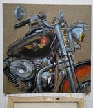 Картина Harley-Davidson. Художник Ellen ORRO. джут/акрил. 50х50, 2019 г., фото №6