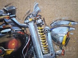 Картина Harley-Davidson. Художник Ellen ORRO. джут/акрил. 50х50, 2019 г., фото №7