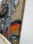 Картина Harley-Davidson. Художник Ellen ORRO. джут/акрил. 50х50, 2019 г., фото №12