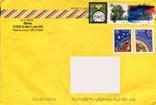 Прошедший почту конверт США Рождество флора растения, фото №2
