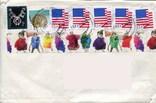 Прошедший почту конверт США флаг стандарты, фото №2