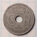Дания 10 эре, 1944 год Король Кристиан X, фото №3