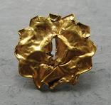 Золотая накладка с крепежными элементами ( усиками )., фото №7