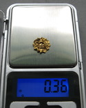 Золотая накладка с крепежными элементами ( усиками )., фото №8