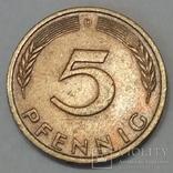 Німеччина 5 пфенігів, 1972