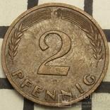 Німеччина 2 пфеніга, 1960