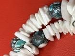 Винтажные бусы и браслет из камня, фото №4
