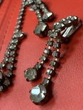 Старые клипсы+ожерелье с кристаллами из горного хрусталя, фото №4