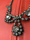 Старые клипсы+ожерелье с кристаллами из горного хрусталя, фото №9