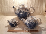 """Набор чайный  """"Гжель"""" 3 шт. фаянс  -  5 л, 1 л  и 0,2 л, фото №2"""