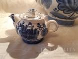 """Набор чайный  """"Гжель"""" 3 шт. фаянс  -  5 л, 1 л  и 0,2 л, фото №5"""