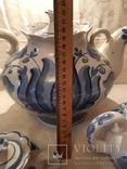 """Набор чайный  """"Гжель"""" 3 шт. фаянс  -  5 л, 1 л  и 0,2 л, фото №9"""