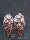 Серьги с цветочным декором. 6,5 гр. новые., фото №2