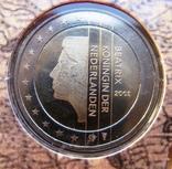 """Нидерланды, 1 серебряная рупия """"400 лет VOC"""" + евро-набор 2002 PROOF, фото №7"""
