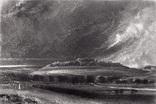 "Гравюра. Дж. Констебл - Лукас. ""Старый Сарум"". До 1840 года. (35,3 на 25,8 см.). Оригинал."