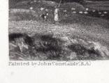 """Гравюра. Дж. Констебл - Лукас. """"Старый Сарум"""". До 1840 года. (35,3 на 25,8 см.). Оригинал. фото 4"""