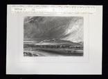 """Гравюра. Дж. Констебл - Лукас. """"Старый Сарум"""". До 1840 года. (35,3 на 25,8 см.). Оригинал. фото 8"""