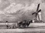 """Гравюра. Дж. Констебл - Лукас. """"Весна"""". До 1840 года. (42,8 на 29 см). Оригинал. фото 2"""