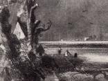 """Гравюра. Дж. Констебл - Лукас. """"Весна"""". До 1840 года. (42,8 на 29 см). Оригинал. фото 3"""