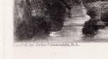 """Гравюра. Дж. Констебл - Лукас. """"Весна"""". До 1840 года. (42,8 на 29 см). Оригинал. фото 4"""